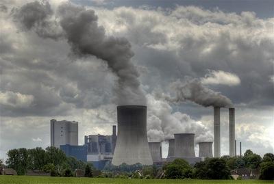 Запыленный воздух предприятий