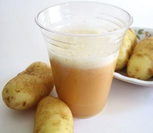 Примочки с картофельного сока и меда