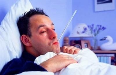 Больной в кровати
