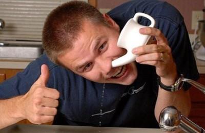 Процесс очистки носа